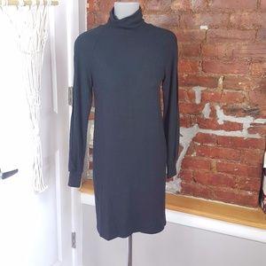 Enza Costa Split Sleeve Funnel Neck Mini Dress S